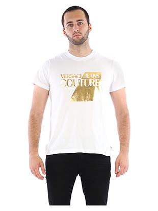 T-SHIRT WITH GOLD LOGO