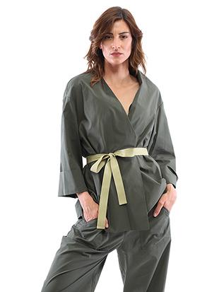 Poplin kimono jacket