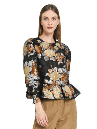 BLOUSE WITH FLOUNCE