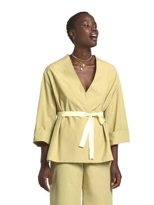 Giacca kimono in popeline