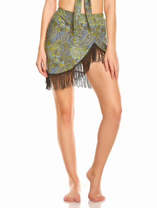 SKIRT WITH FRINGES