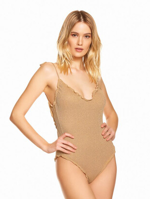 LUREX ONE PIECE RIB SWIMSUIT